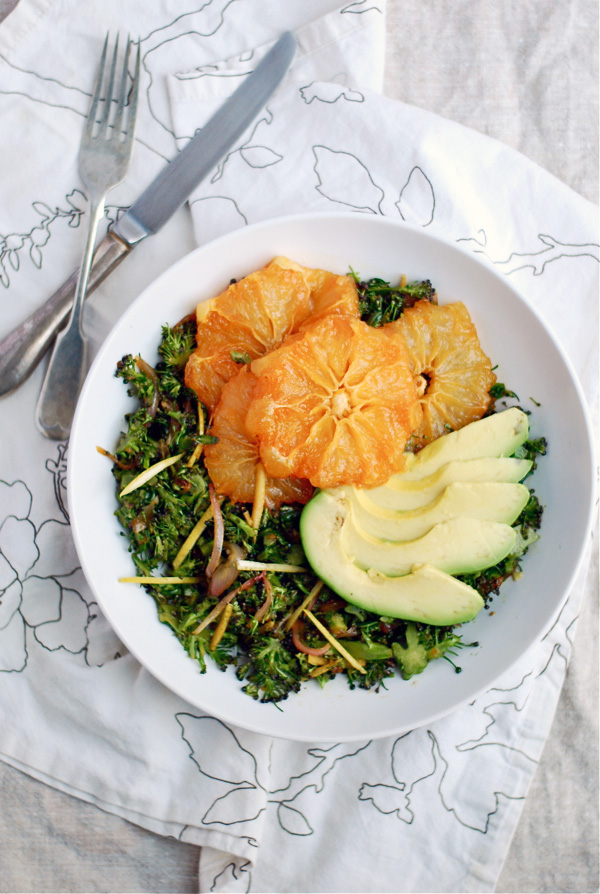 broccoli slaw with caramelized grapefruit & avocado // brooklyn supper