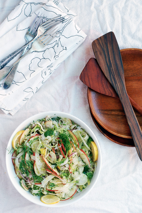 shaved fennel, brussels sprout, and apple salad // brooklyn supper