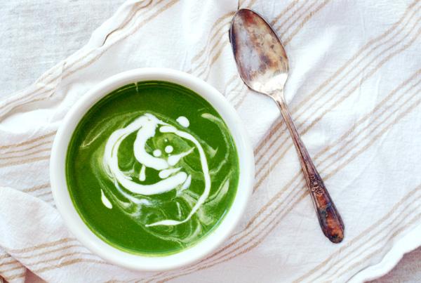 garlic and greens soup // brooklyn supper