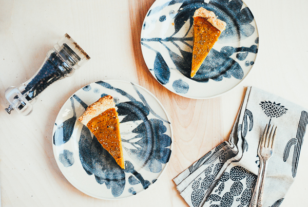 kabocha squash pie with black pepper and ginger // brooklyn supper