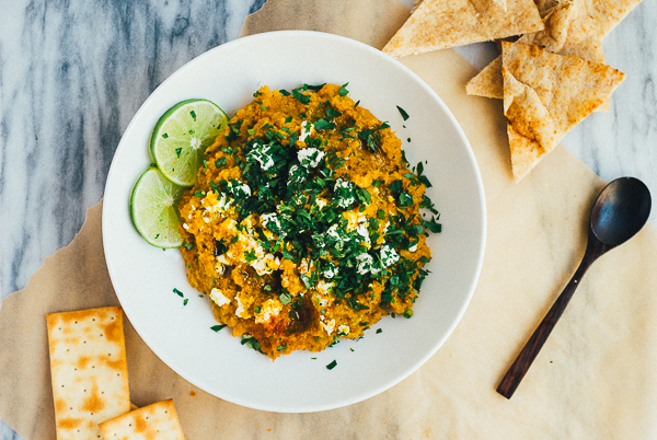 roasted golden beet and carrot dip // brooklyn supper