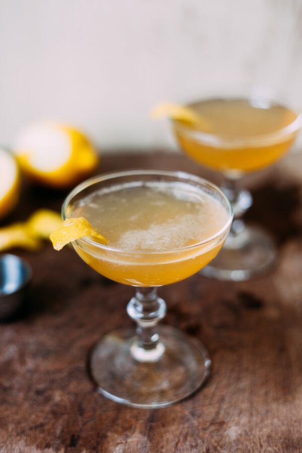 bourbon sidecar cocktails // brooklyn supper