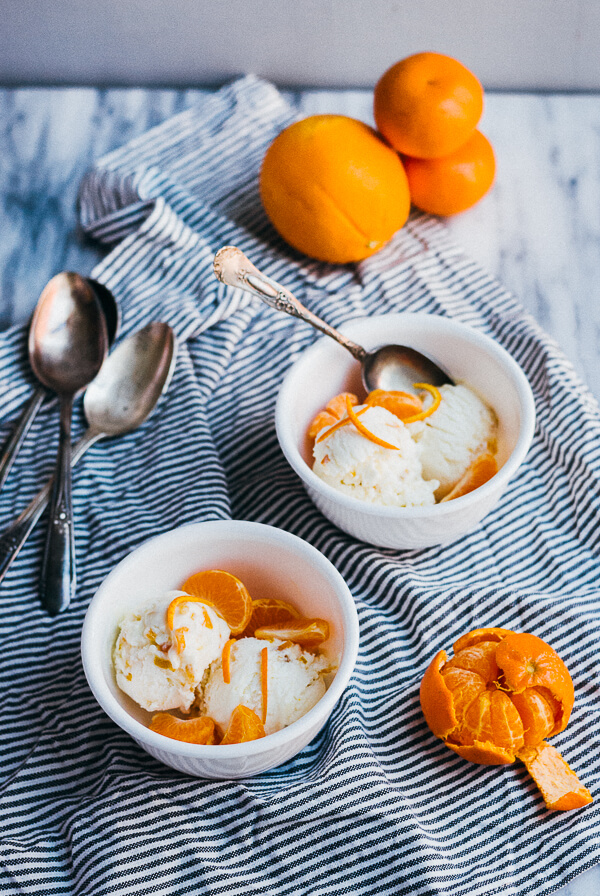 cream cheese ice cream with citrus marmalade // brooklyn supper