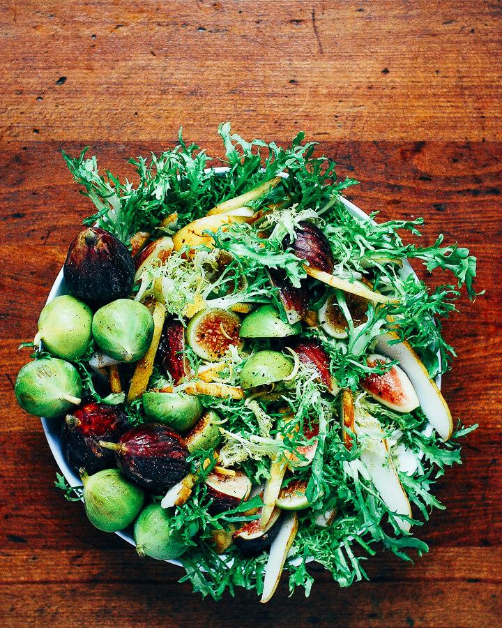 fig and pear salad with vanilla bean vinaigrette // brooklyn supper