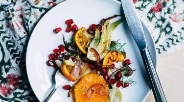 roasted fennel and satsuma orange salad