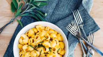 butternut squash and beer mac and cheese