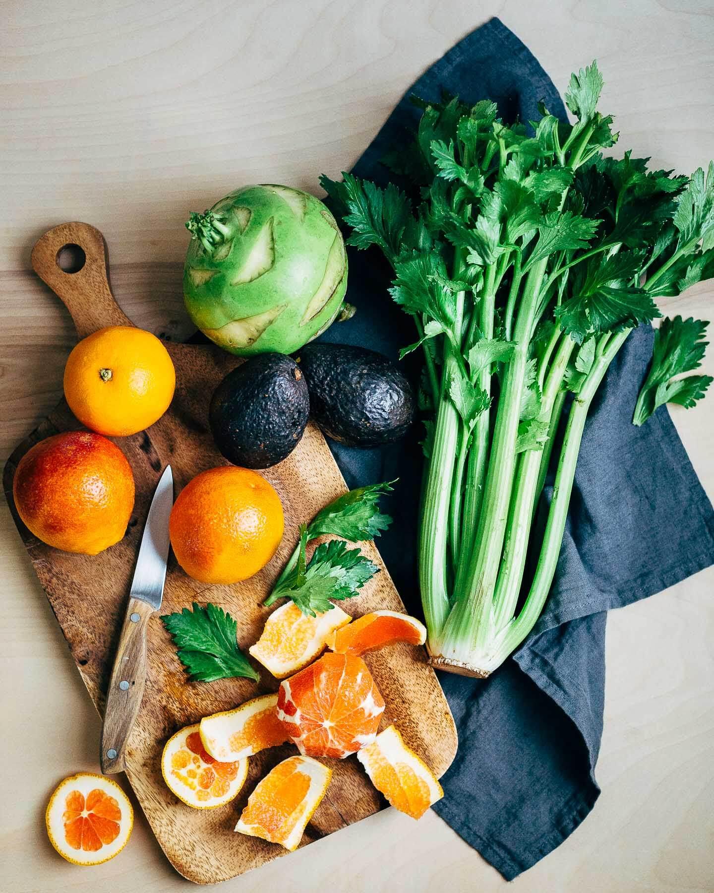 kohlrabi, avocado, and citrus salad // brooklyn supper