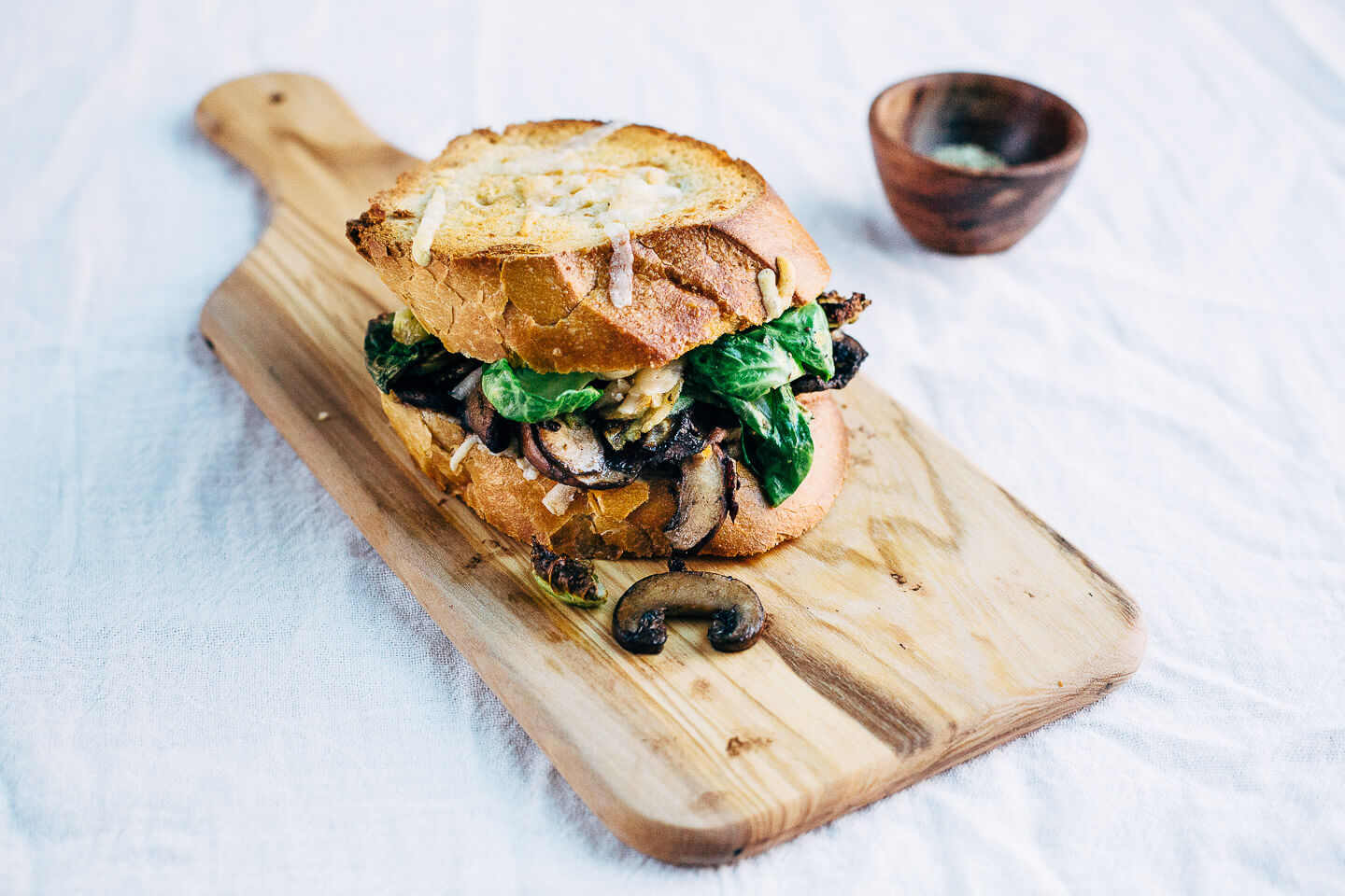 brussels sprout and mushroom grilled cheese // brooklyn supper