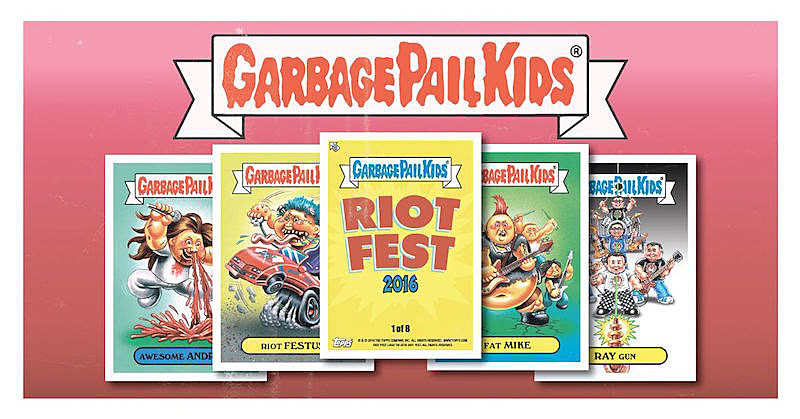 Topps making official Riot Fest Garbage Pail Kids cards