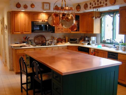 Medium Of Island Counters Kitchen