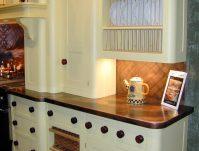 Copper Countertops White Cabinets