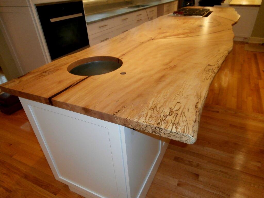 Live Edge Wood Countertops Brooks Custom