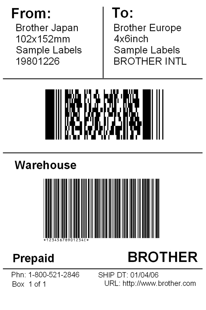 shipping label template - sample address label