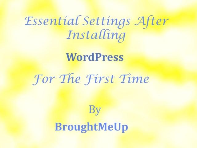 Essential WordPress Settings
