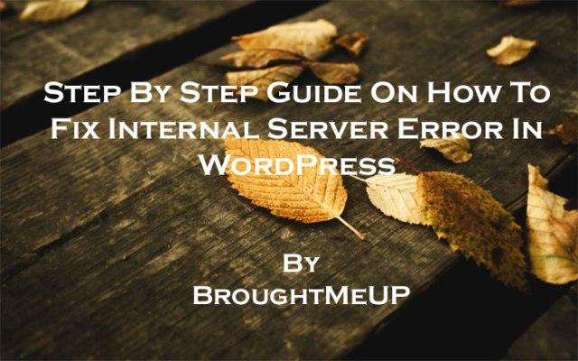 fix wordpress internal server error