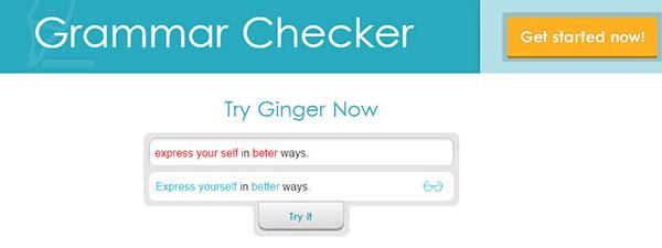 Ginger grammar online
