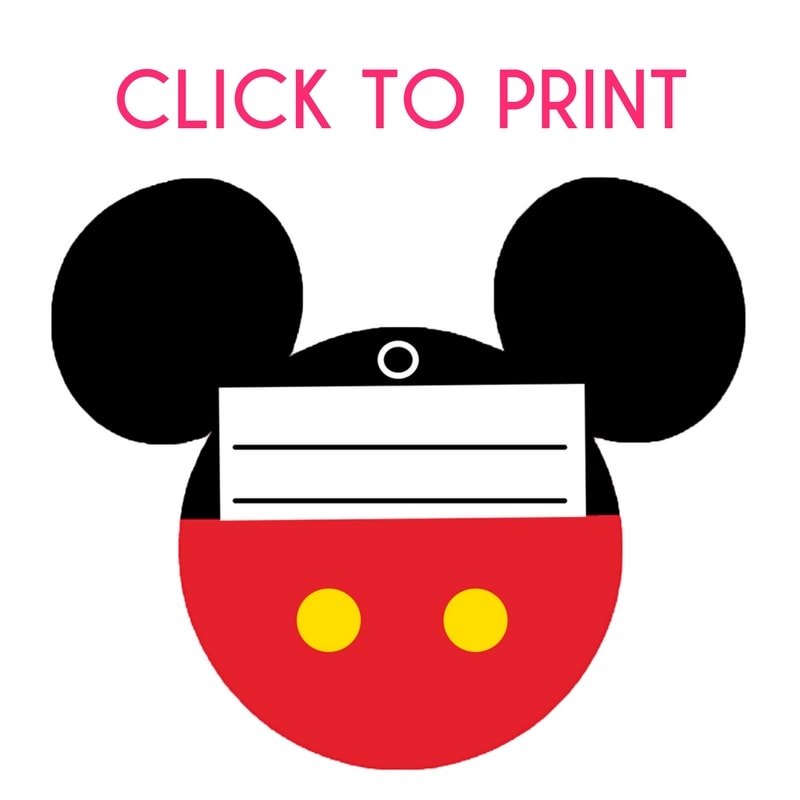 Free Printable Mickey Mouse Luggage Tags - Brought to You by Mom - free printable mickey mouse