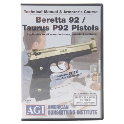 Beretta 92/Taurus 92 Technical Manual  Armorer\u0027s Course DVD