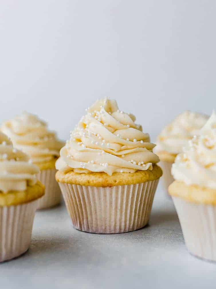 Vanilla Cupcakes with Vanilla Frosting Brown Eyed Baker