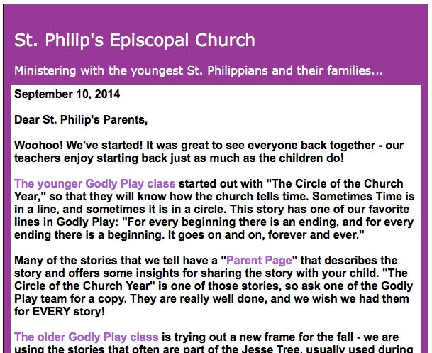 new year stories for church