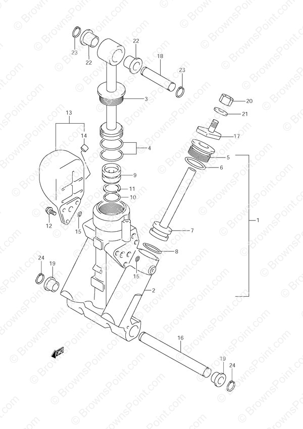 Suzuki Outboard Parts - DF 70 Parts Listings - Browns Point Marine