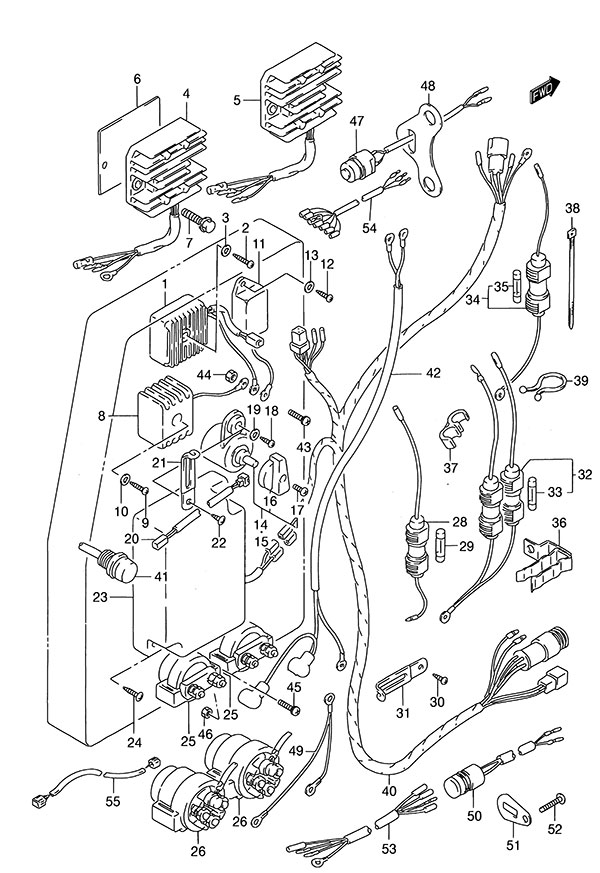 Fig 29 - Electrical - Suzuki DT 140 Parts Listings - 1986 to 2000