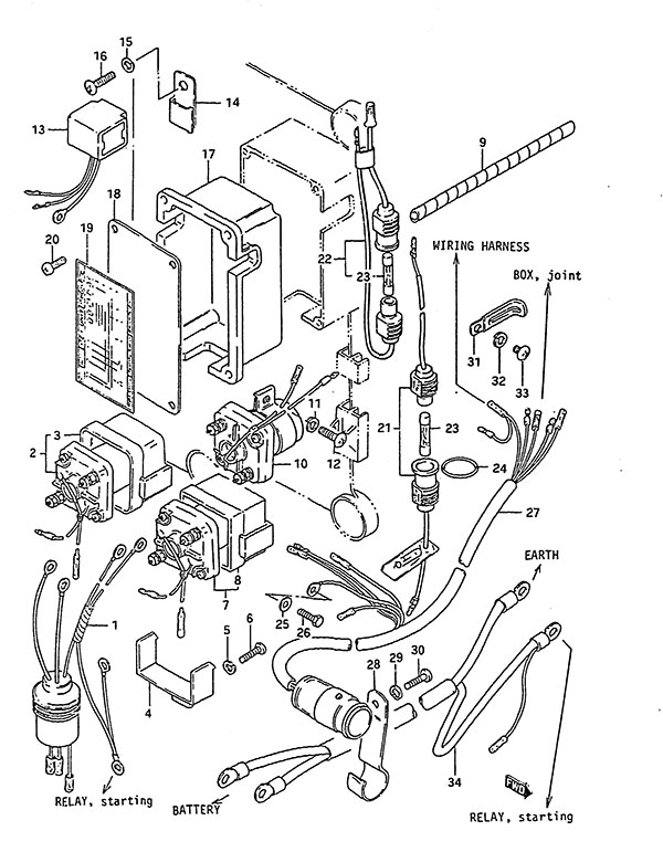 1985 mercruiser 140 wiring diagram