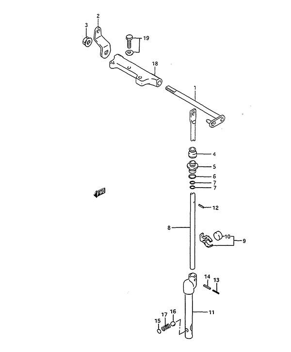 Fig 10 - Clutch - Suzuki DT 85 Parts Listings - 1988 to 2000