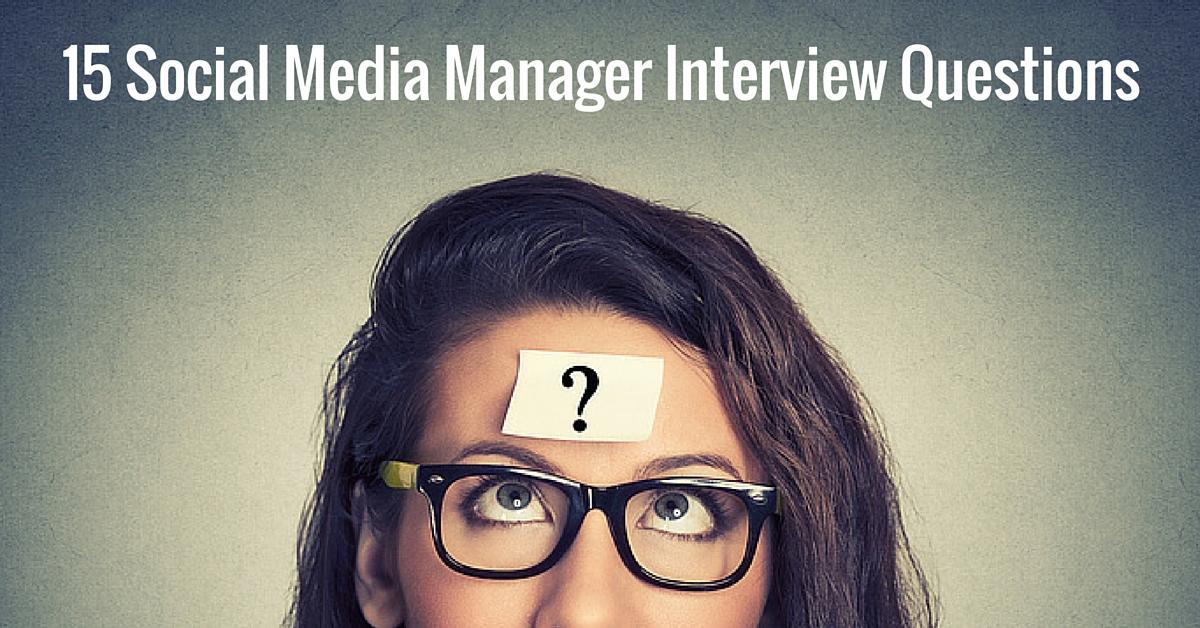 Social Media Manager Job Description  Interview Questions