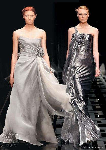 Sølv brudekjole fra Carlo Pignatelli