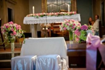 Pynting av kirke bryllup
