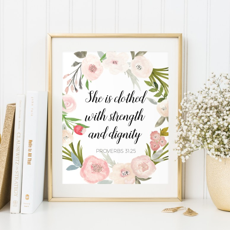 Scripture Art & Bible Verse Art for Nursery and Home // Watercolor Print