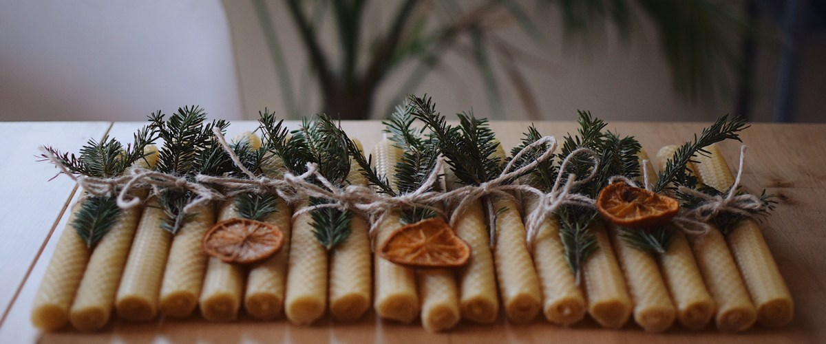 DIY – Hand Rolled Beeswax Candles