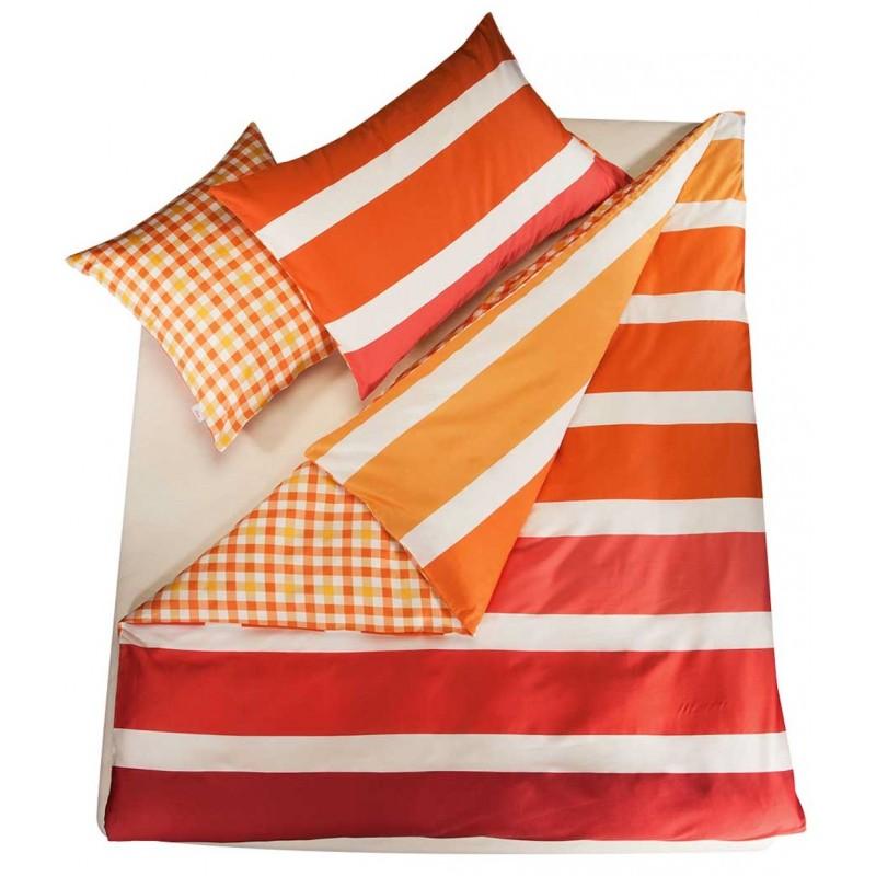 Perfekt SOliver Doubleface Bettwäsche Satin Orange Mit Streifen Muster   S Oliver  Badezimmer