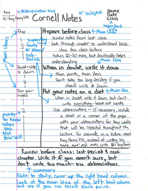 Cornell Notes - BHS History Mr HartBHS History Mr Hart - Sample Cornell Note