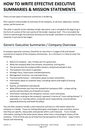 Which is better, a business plan or an executive summary? Academic - executive summary format template