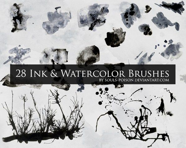 28 Ink and Watercolor Brushes #491 BrushKing ♛