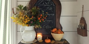 Fall Farmhouse Entry & Living Room Tour