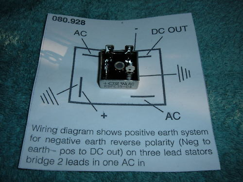 rectifier wiring Bantam Technical Discussion