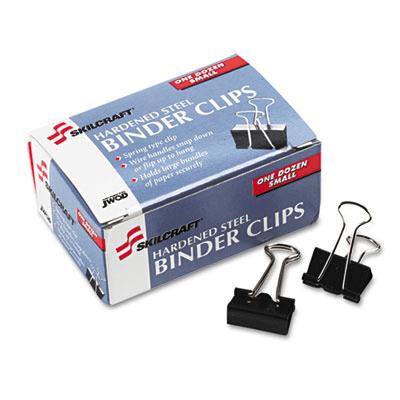 NSN2828201  SKILCRAFT® Nsn2828201 Binder Clip, Small, Black/Silver