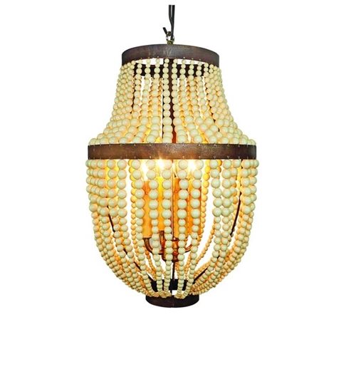 Creme Bead and Iron Four Light Chandelier by Dr Livingstone I Presume - dr livingstone i presume accessories