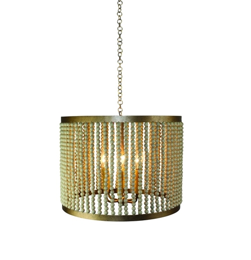 Iron and Bead Six Light Chandelier by Dr Livingstone I Presume - dr livingstone i presume accessories