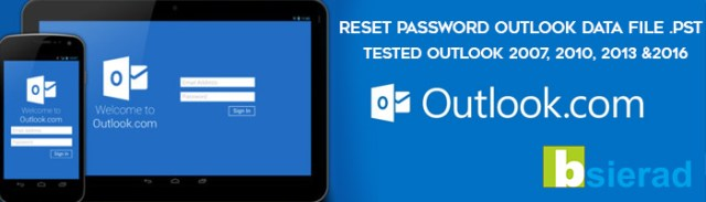 Cara reset remove password outlook
