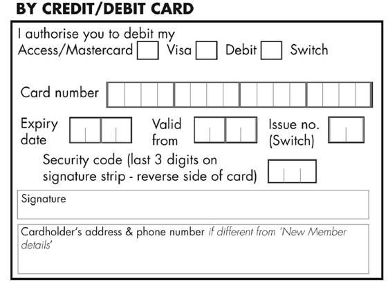Direct Debit Form Direct Debit Form For Membership Direct Debit - direct debit form