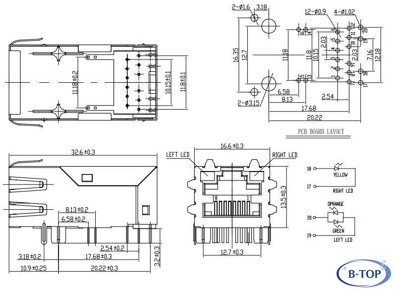 poe rj45 schematic