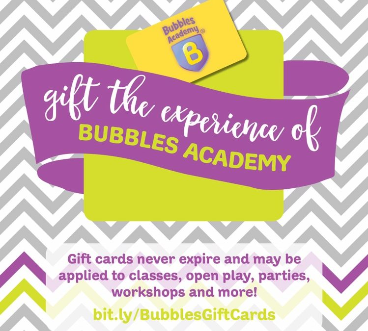 Gift Card Special through Small Business Saturday! - Bubbles Academy