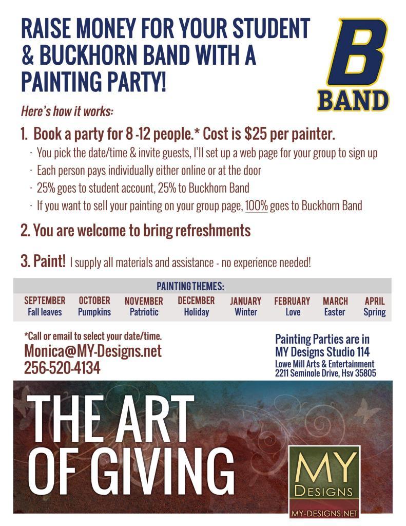 BHB My Designs Painting Fundraiser