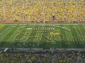 Michigan's band mocked Ohio State at halftime over the weekend