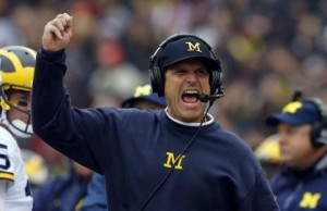 Jim Harbaugh says Ohio State 'fired over our bow,' so he took a jab at the Buckeyes