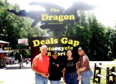 Angus McPhaul, Chica Lagat, Allyson McPhaul, Toni Summer. The Dragon 7/13/13. Such a fun group.